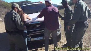 Caught latina doggystyled